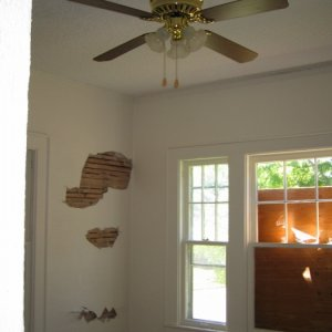 from entryway, turning left into dining room