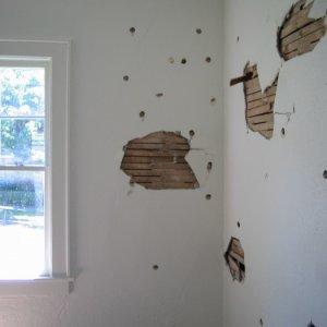 living room wall damage