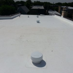 Completed Chicago 2-flat roof with TPO membrane.