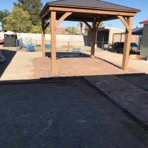 patio and pergola