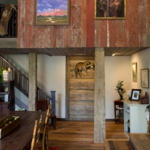 Red Barnwood Paneling - by Historic Flooring