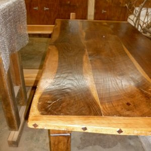 Black Walnut Harvest Farm Table - by Historic Flooring