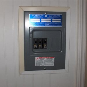 Backyard Building Interior Electrical Panel