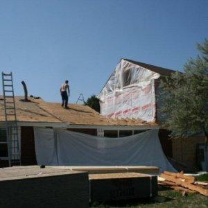 Original house roof tear off -Friday am
