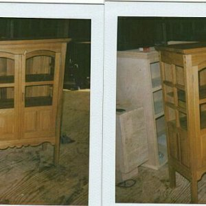 Antique Chestnut Hutch