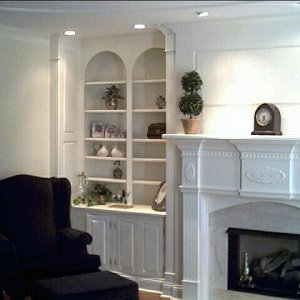 Mantel with side units