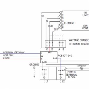 FUH54C RC840T 240 Diagram