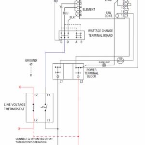 FUH54C Line Voltage Thermostat Diagram