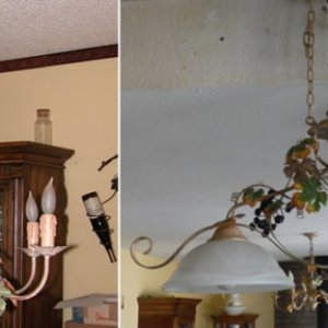 Magic find! I've had the Italian hanging fixture (on the left) for many years (I brought it with when we moved out here nearly 20 years ago.)    One...