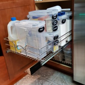 Installed pull-out organizer in the pantry as well.    (Product: Rev-a-Shelf -...
