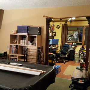 "Here's a partial picture of the ""original"" game room... Kinda, after the quake everything imaginable was on the floor..."