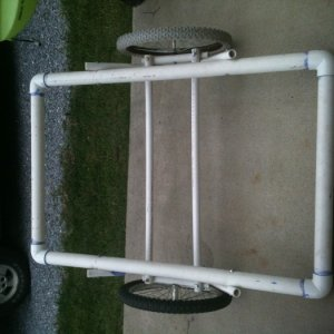 Kayak trailer made from scratch for $42