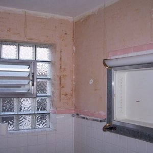 Mold where wall paper used to be