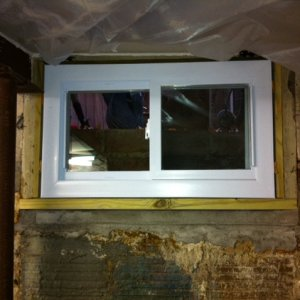 new basement window