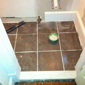 Powder room tile