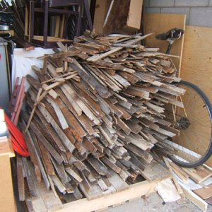 pile of lath