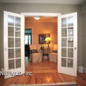 "These french doors replace a 36"" wide door now in the pantry."