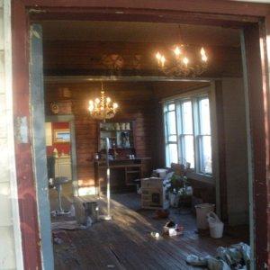 View through the front door.