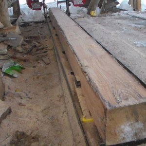 A brand new 6x12 beam I used as part of my log trolley system.