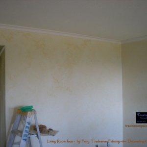 DSCN3347 1    Living room walls during faux