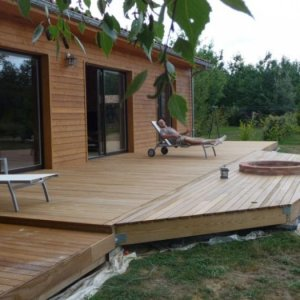 residential deck installed