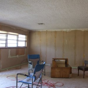 Northwest Corner after paneling removal