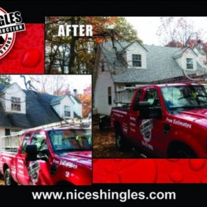 Roof Replacement done by Nice Shingles Construction.  Home was in Pine Ridge of Bushkill, PA.  Roof was replaced in one day.  Everything was cleaned...