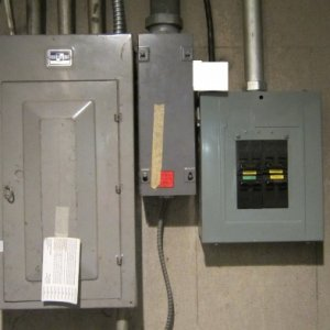 Main Panel, Sub Panel, and Electrical Gutter in the middle.