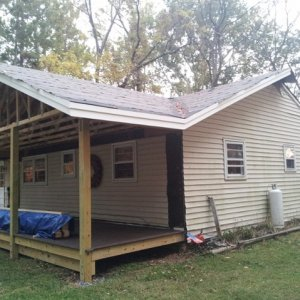 New porch roof.