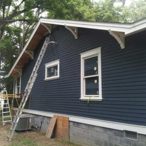 New hardi-plank siding on new addition