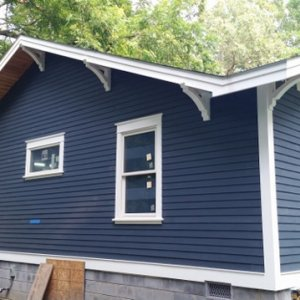 New hardi-plank siding on new addition.