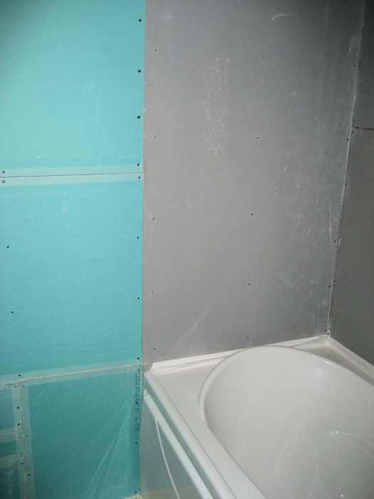 40 Drywall Denshield at Bathtub