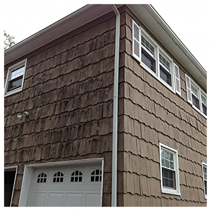 Before! Tear Off existing Siding
