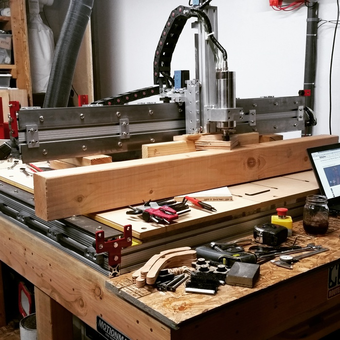 Breaking down the machine to replace a failed bearing