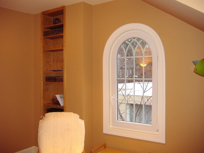 Customer Arch top Tilt and Turn window with Gothic grills