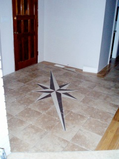 Entry tile. And it does point North as well.