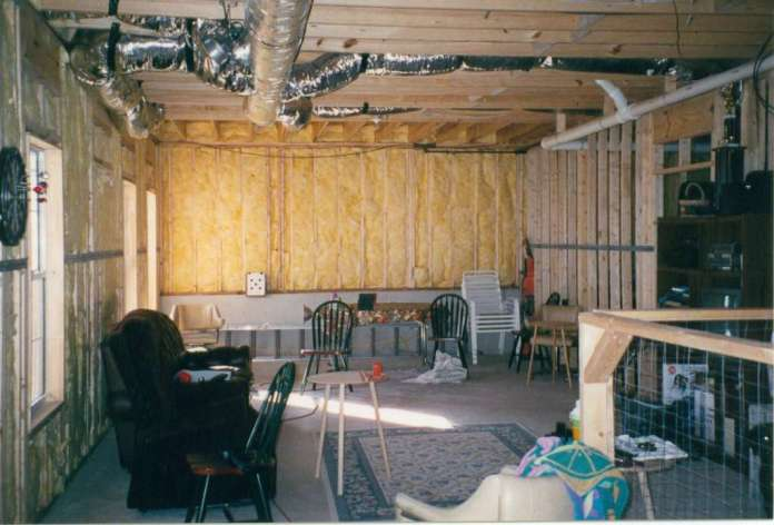 Facing Bar Area (Note HVAC location and drain pipe through wall)