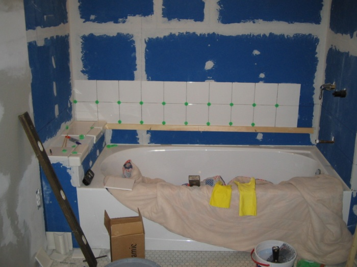 first day of tiling