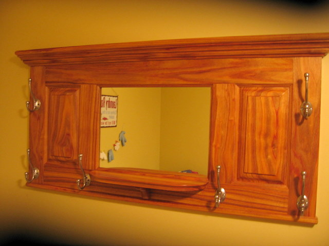 "Full pic of the coatrack. It is 48"" wide. It has a small shelf under the mirror."