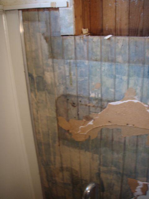Hall bath wainscoting adhesive