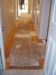 hallway before tile