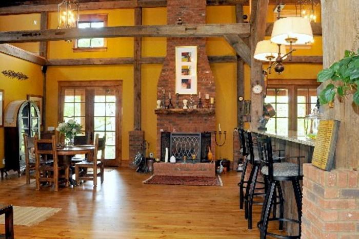 Interior re erected timber frame2