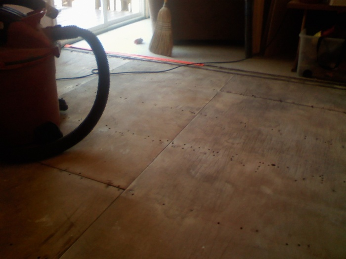 just got carpet up and ready to start getting subfloor ready