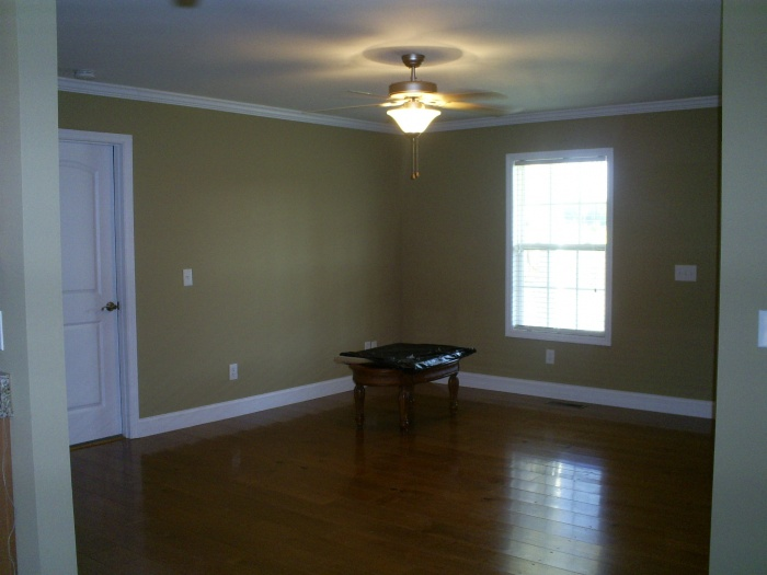 living room, waiting on sofa and loveseat to be delivered