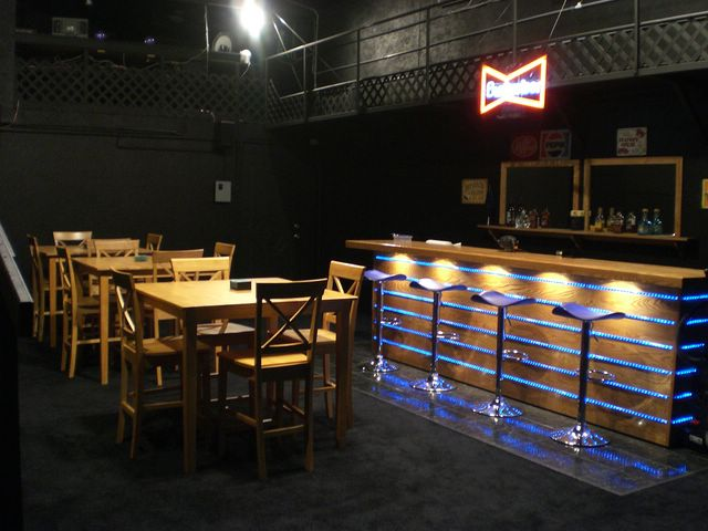 main floor facing bar