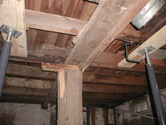 Middle flat 2x4 is now the main joist with tree and slim