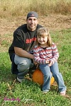 My niece Serena and I after picking pumpkins