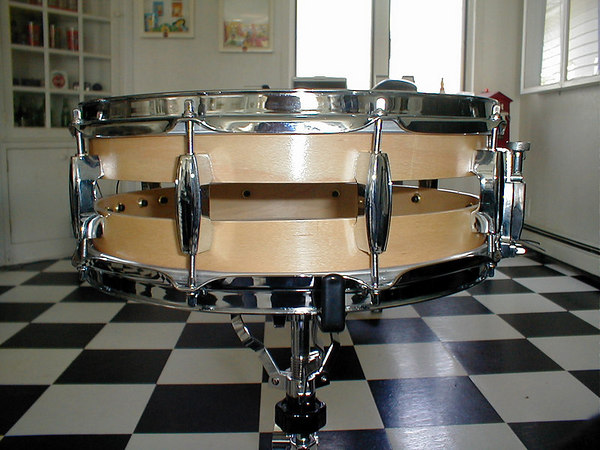 """my stadium snareOne of my Snare Drums I made. 14"""" x 6"""" two piece shell. Like the old ludwig Staidum snare..."""