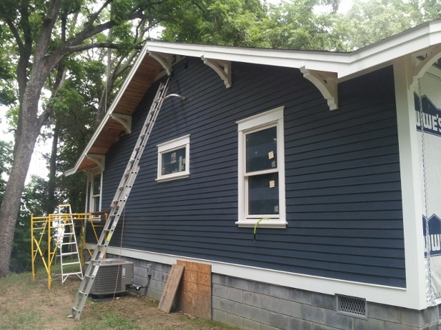 New hardi-plank siding on new addition