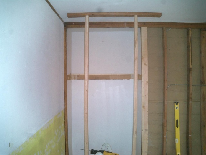 """Nook -- supported and opened up.   Original door opening was 30"""" -- made it 44"""""""